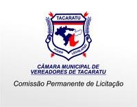 Câmara M. de Tacaratu-PE, torna público o Processo Administrativo nº004/2017