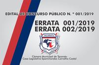 ERRATA  001/2019   ERRATA 002/2019