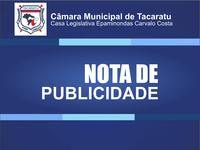 REF.: MANDADO DE BUSCA E APREENSÃO, NA CÂMARA MUNICIPAL DE VEREADORES DE TACARATU